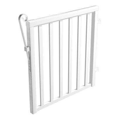 Aluminum Wide Picket Gate in White