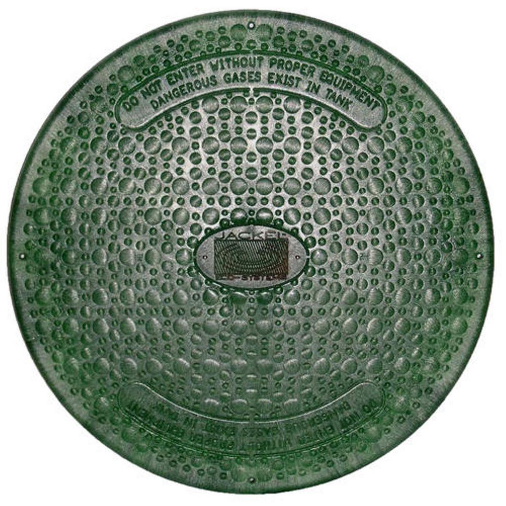 24 in  Green Septic Tank Riser Cover