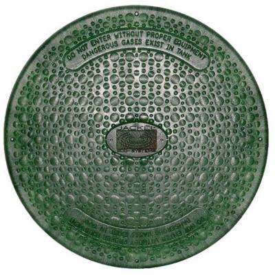 24 in. Green Septic Tank Riser Cover