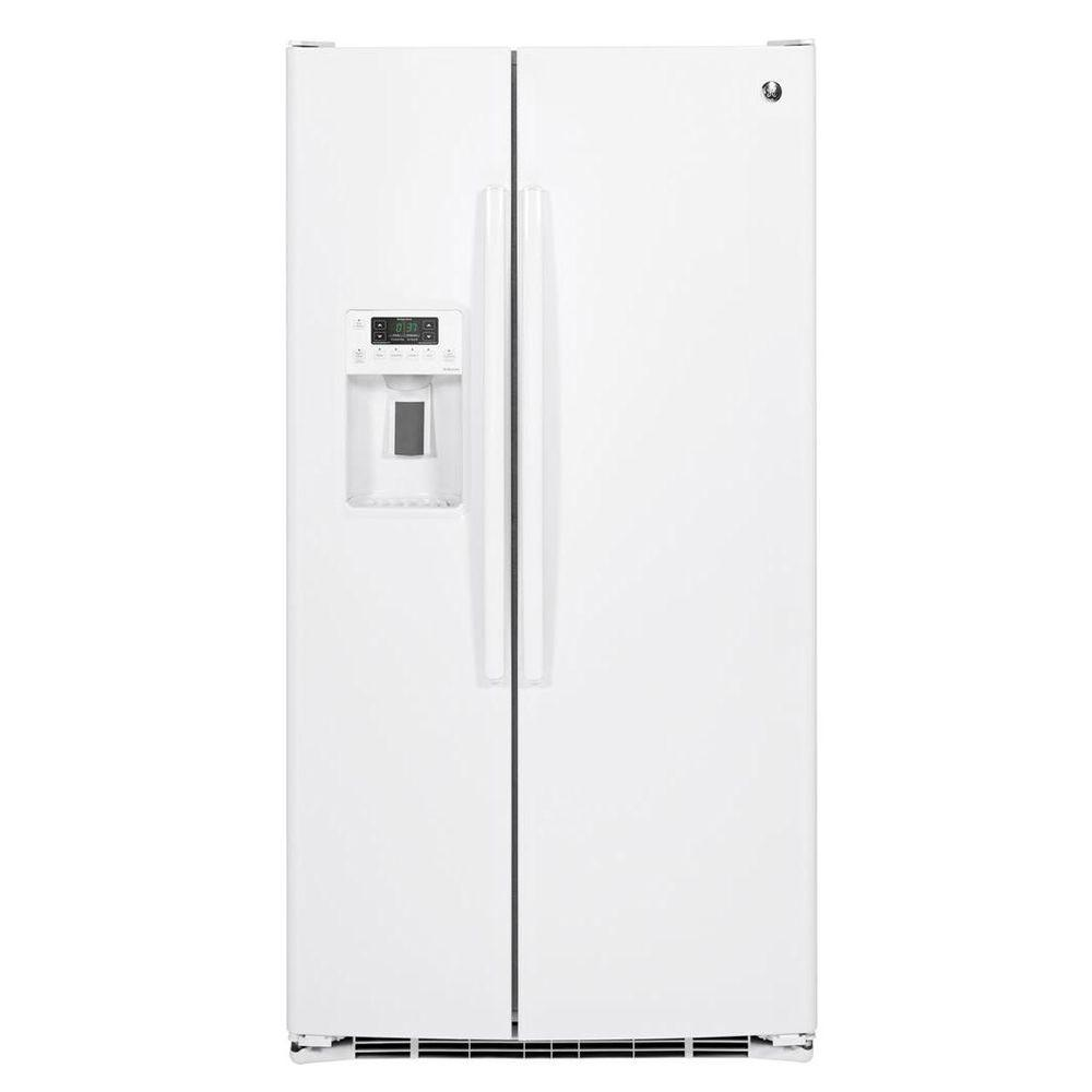 GE Adora 25.9 cu. ft. Side by Side Refrigerator in White