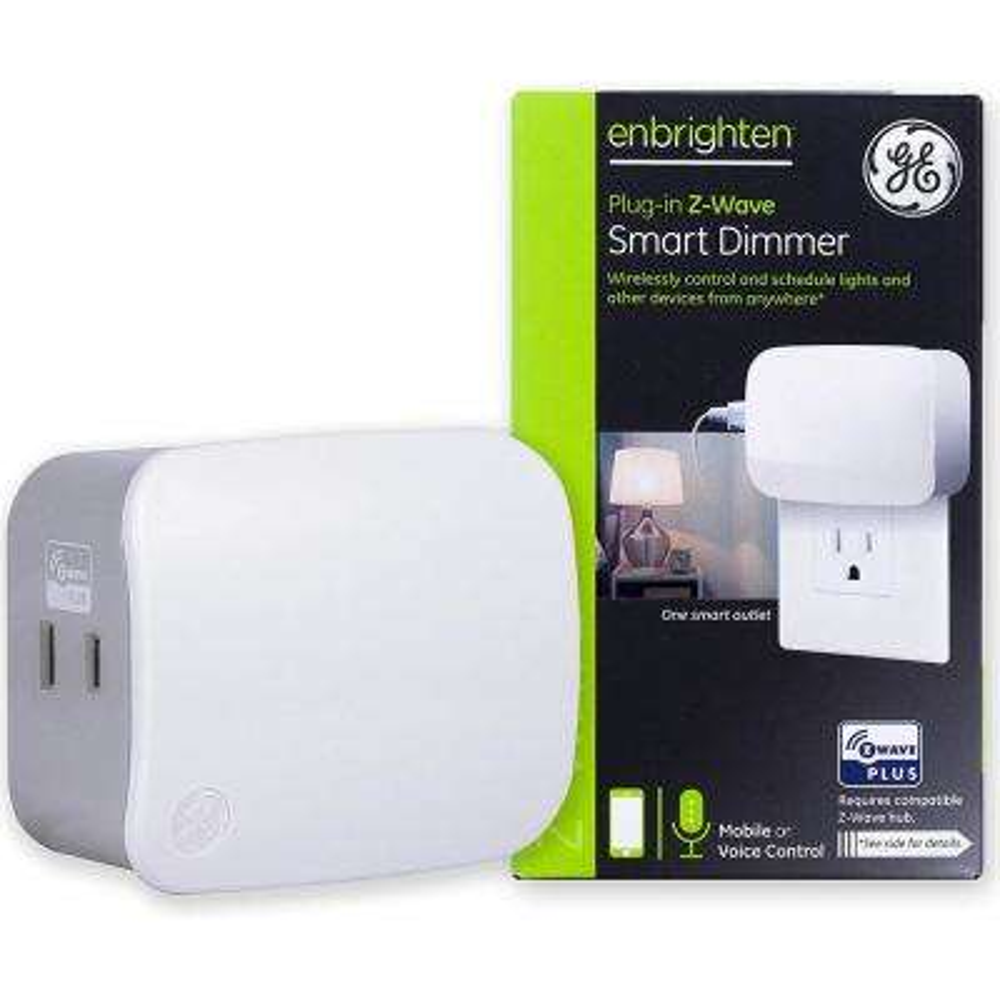 Enbrighten Z-Wave Plus Plug-In 1-Outlet Smart Light Dimmer