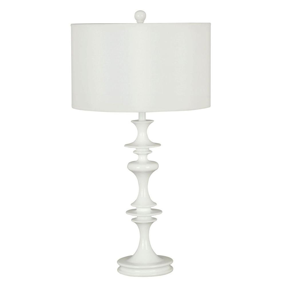Claiborne 28 in. White Table Lamp