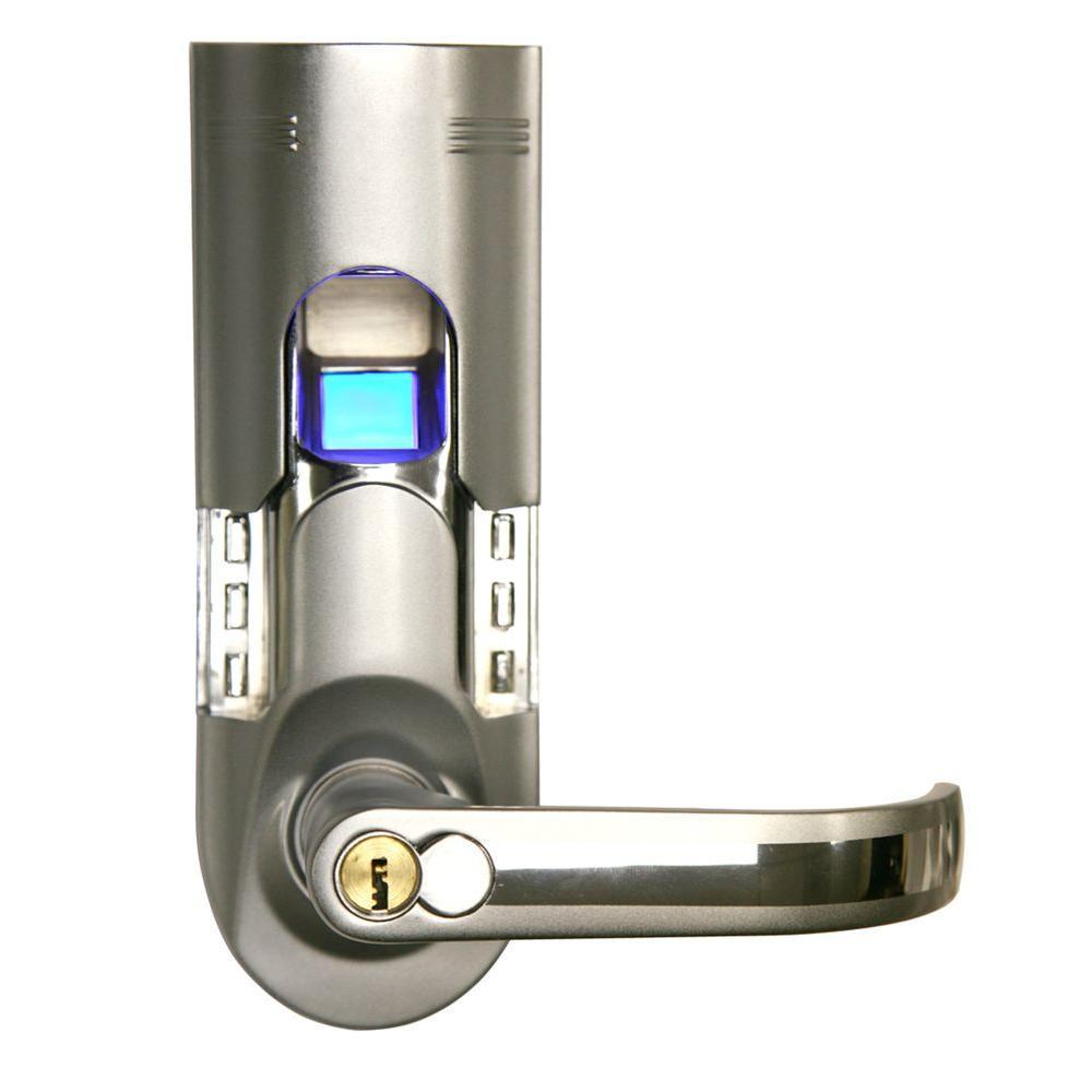 iTouchless Bio-Matic Fingerprint Silver Right Handle Door Lock ...
