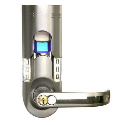 Bio-Matic Fingerprint Silver Right Handle Door Lock