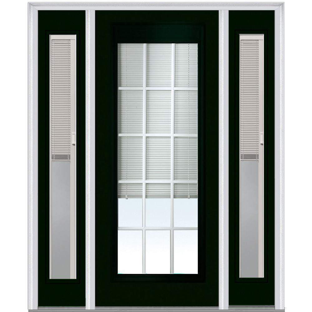 Blinds For Glass Front Doors: MMI Door 64 In. X 80 In. Internal Blinds And Grilles Right