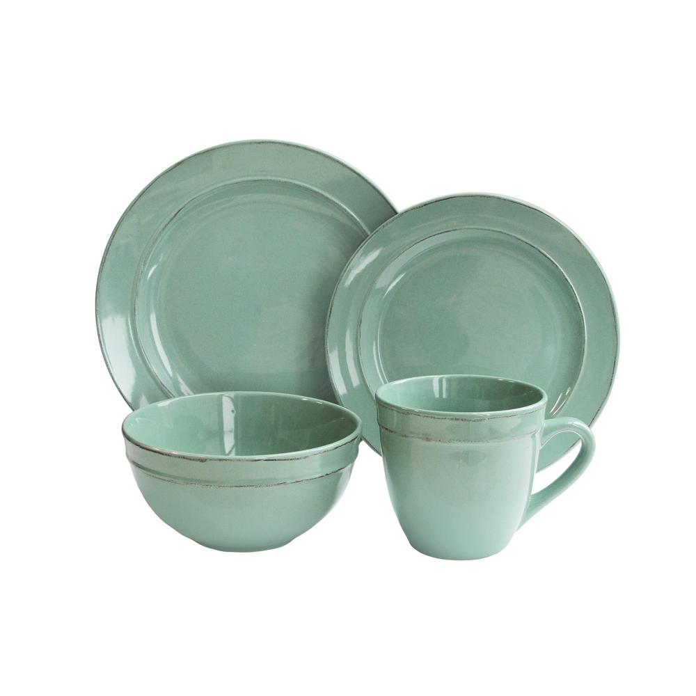 American Atelier 16-Piece Olivia Seafoam Dinnerware Set  sc 1 st  The Home Depot : american atelier dinnerware patterns - Pezcame.Com