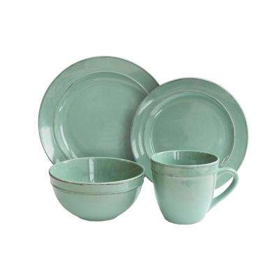 16-Piece Olivia Seafoam Dinnerware Set