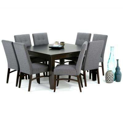 Ezra 9-Piece Slate Grey Dining Set