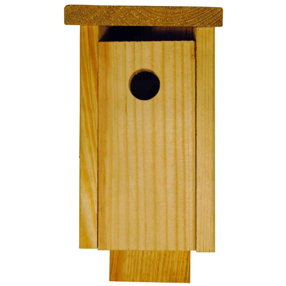 Unfinished Pine Chickadee Bird House