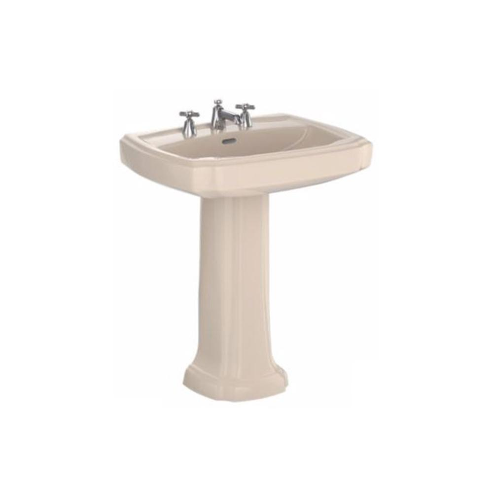 Toto Guinevere 27 In Pedestal Combo Bathroom Sink With Single Faucet Hole In Bone Lpt970 03