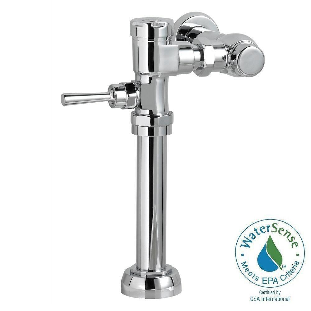 Manual 128 GPF FloWise Flush Valve For 15 In Top Spud Toilet Polished Chrome
