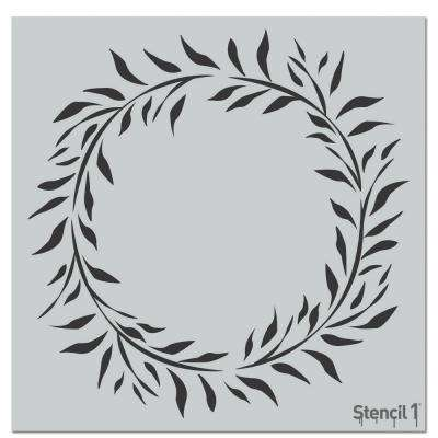 Wreath Eucalyptus Repeat Pattern Stencil