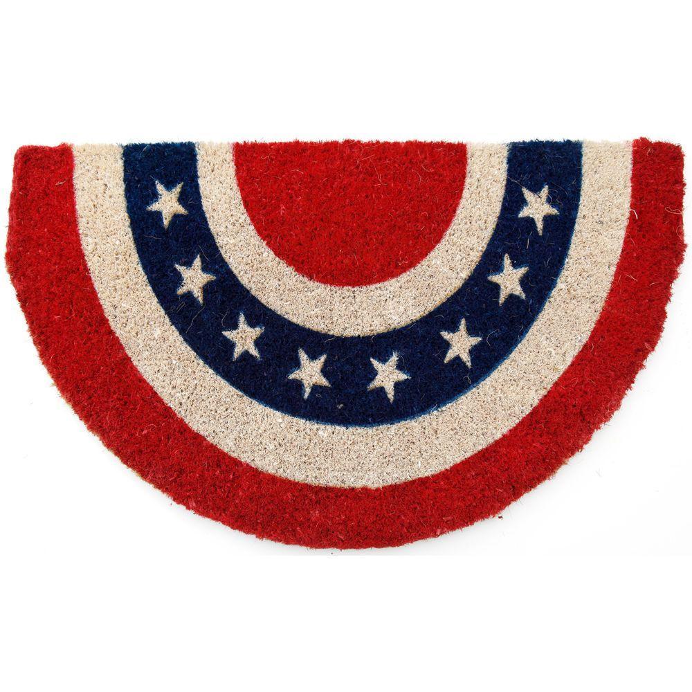 Americana 18 in. x 30 in. Hand Woven Coir Door Mat