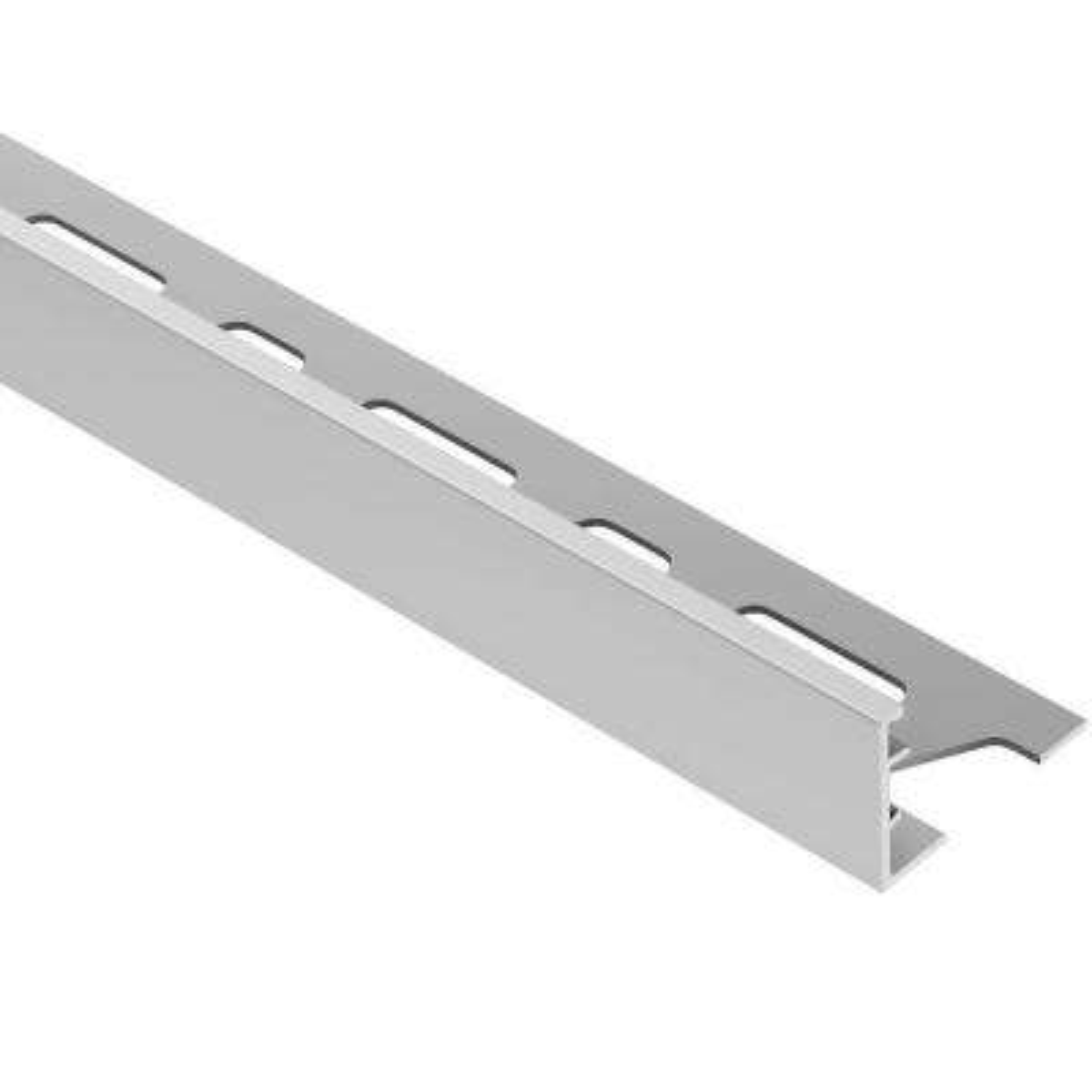 Schiene Satin Anodized Aluminum 1-3/16 in. x 8 ft. 2-1/2 in. Metal L-Angle Tile Edging Trim