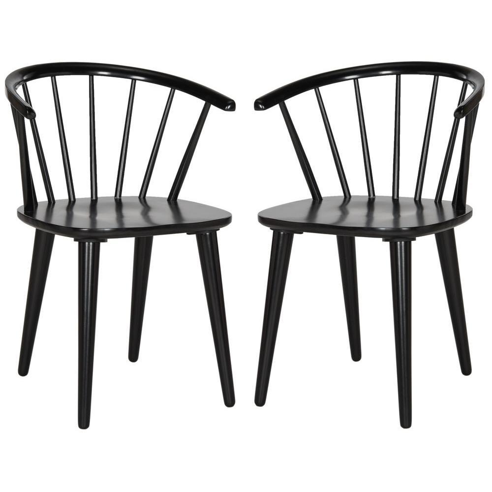 Blanchard Black Wood Dining Chair (Set of 2)