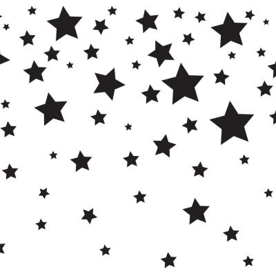 Falling Stars White & Black Wallpaper Border