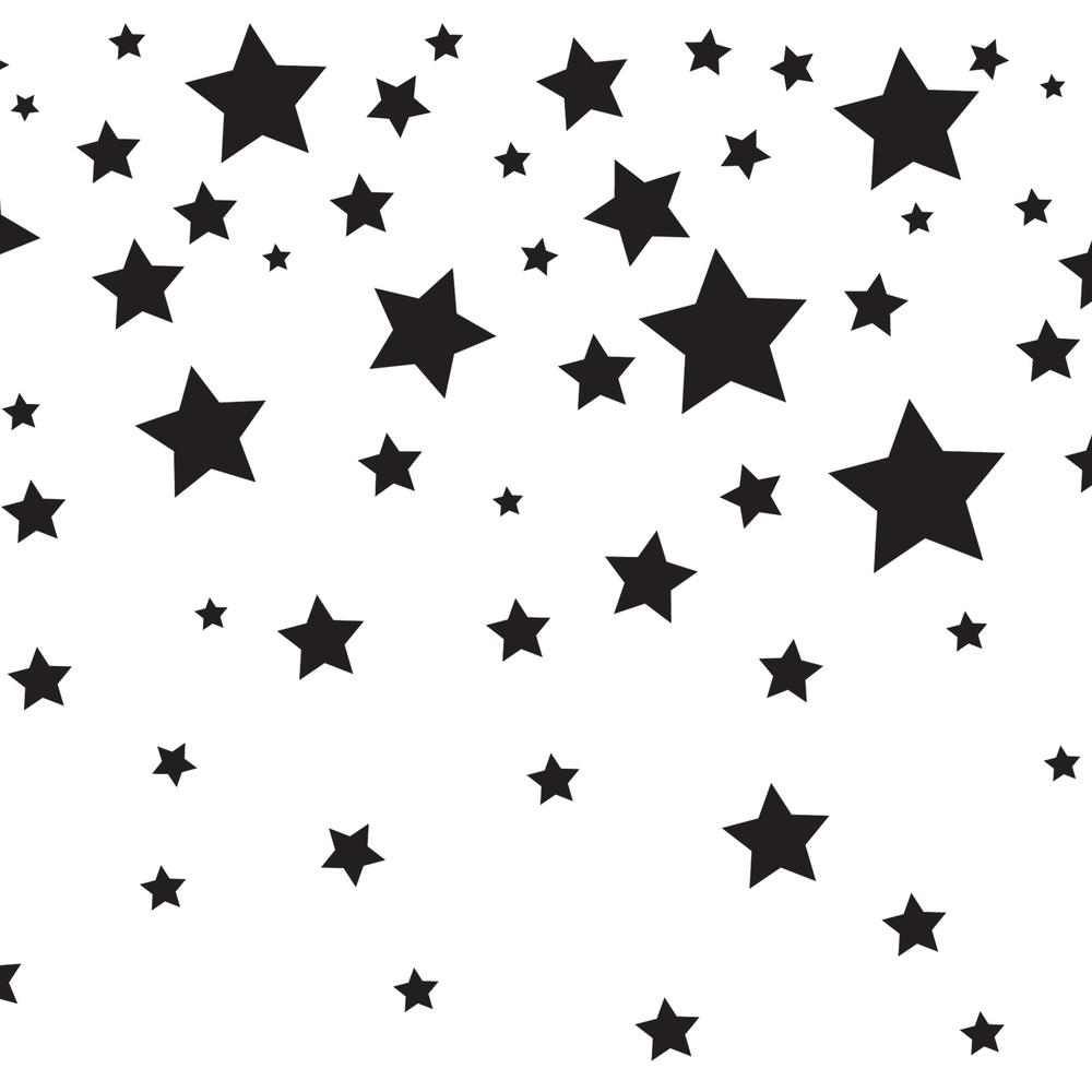 Tempaper Kids Falling Stars White And Black Self Adhesive Removable