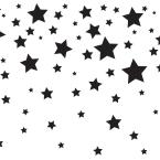 Tempaper Kids Falling Stars White and Black Self-Adhesive Removable Borders and Stripes