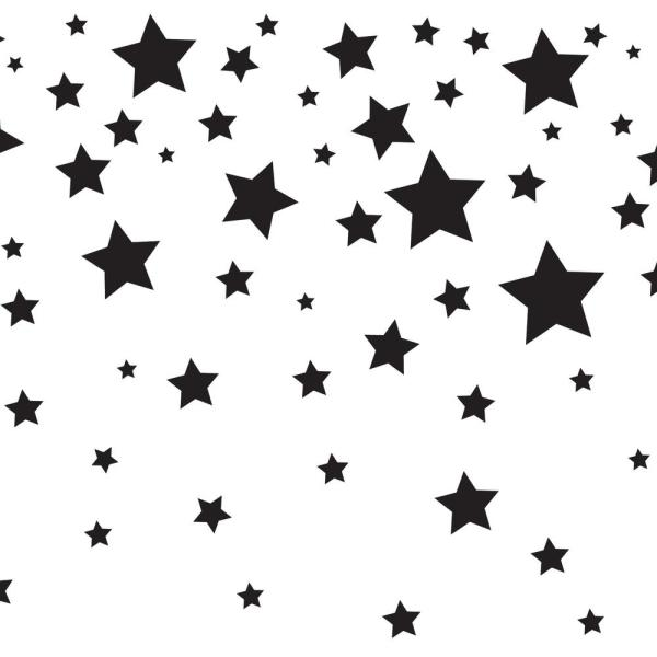 904431bd91c Kids Falling Stars White and Black Self-Adhesive Removable Borders and  Stripes