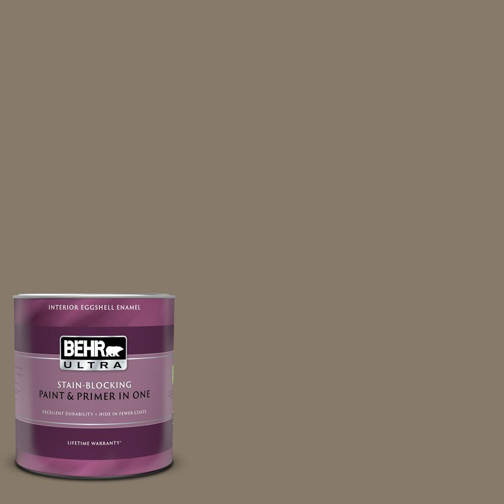 Behr Ultra 1 Qt Ppu7 24 Native Soil Eggshell Enamel Interior Paint And Primer In One 275304 The Home Depot