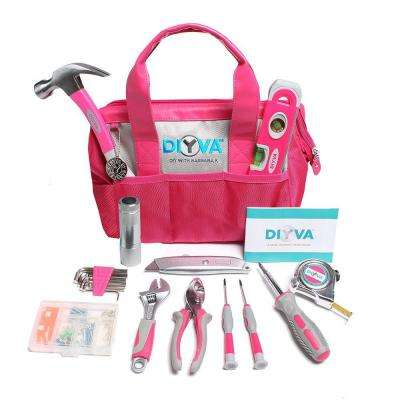 14 in. Ultimate Tool Set, Pink (25-Piece)