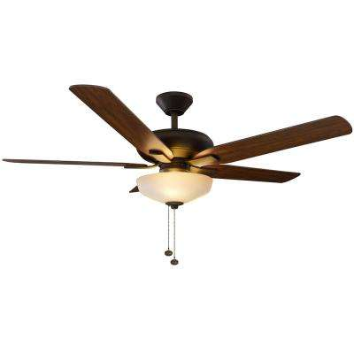 Holly Springs 52 in. LED Oil-Rubbed Bronze Ceiling Fan with Light Kit