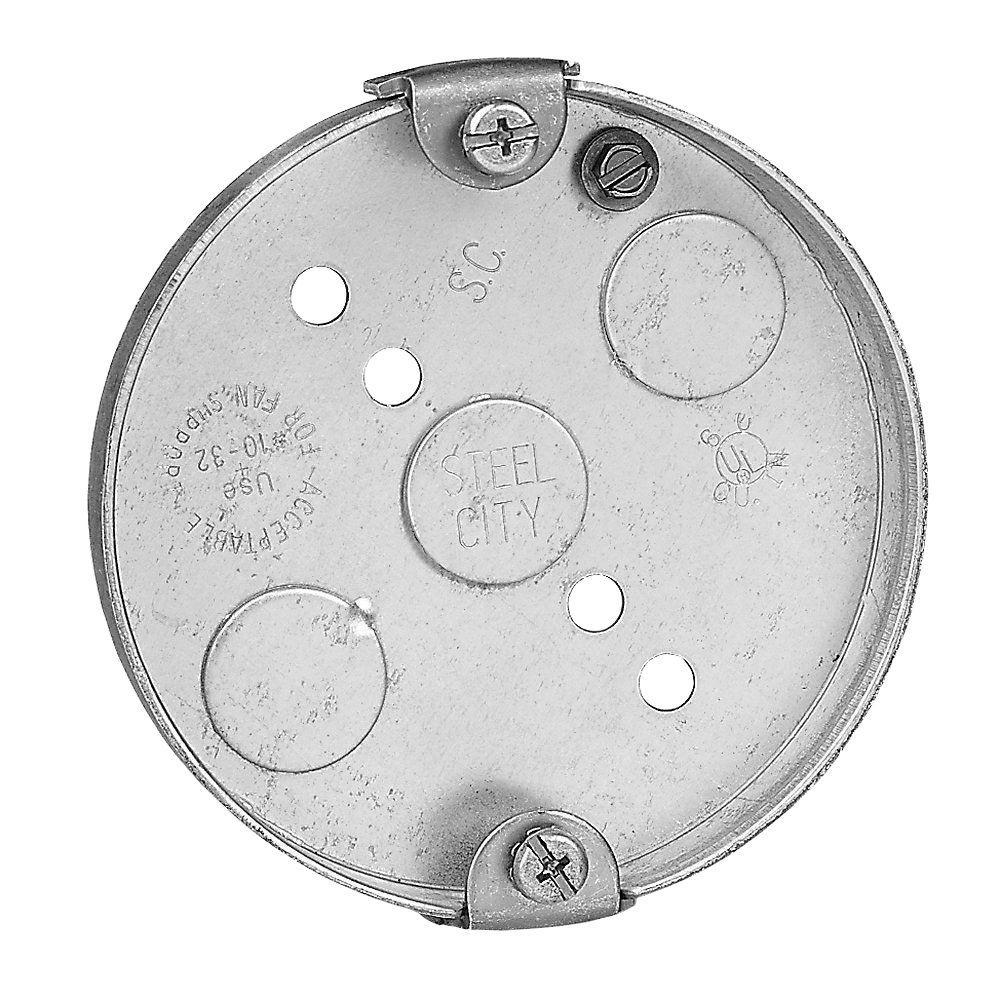 Metal Round Pancake Box Case
