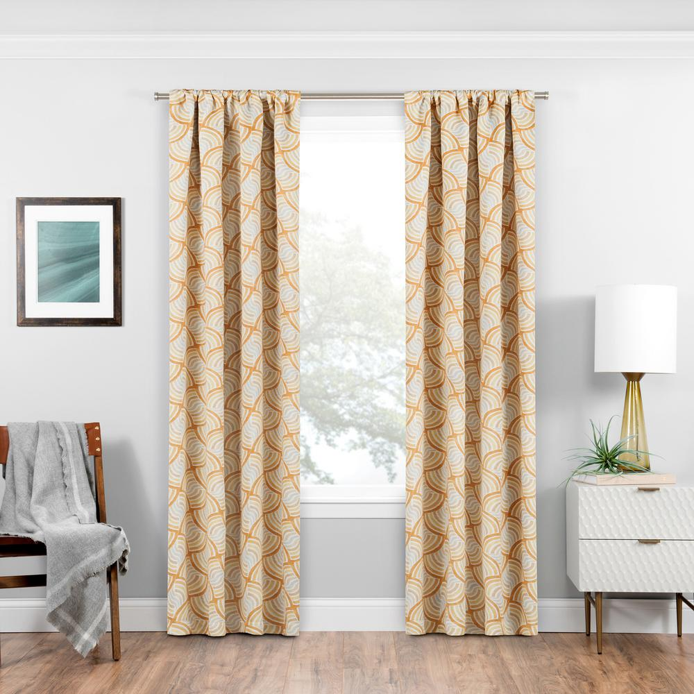 Eclipse Benchley Blackout Window Curtain Panel in Gold - 37 in. W x 95 in. L