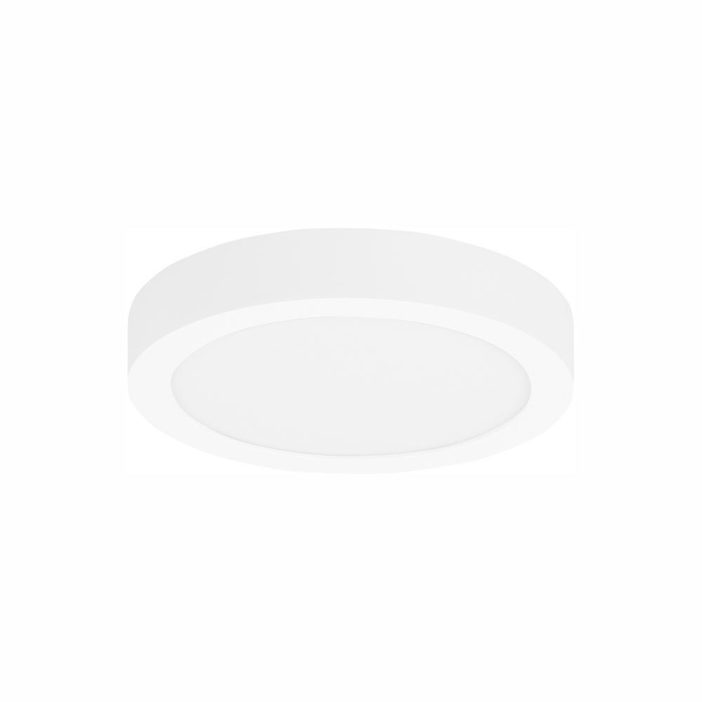 LBL Lighting Tenur Round 10 1-Light White LED Flush Mount