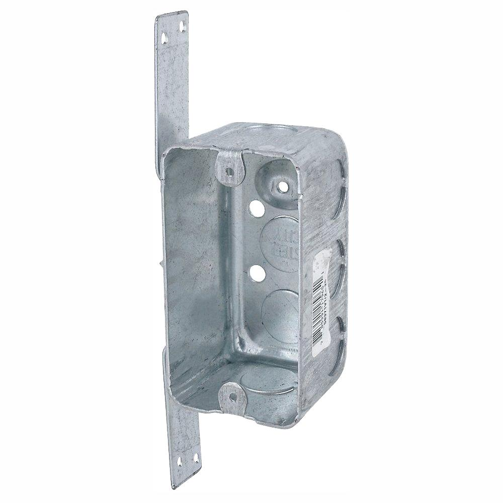 Steel City 1-Gang New Work Electrical Utility Box with CV Bracket (Case of 12)