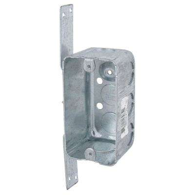 1-Gang New Work Electrical Utility Box with CV Bracket (Case of 12)