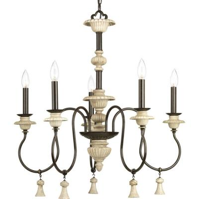 Bergamo Collection 5-Light Forged Bronze Chandelier