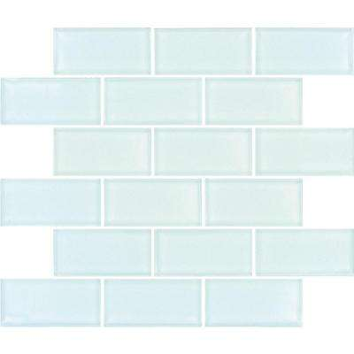 Ming Green Thassos White Marble Mosaic Tile White and