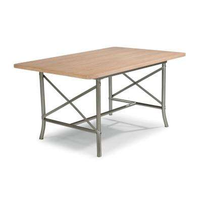 French Quarter Aged White Wash Natural Dining Table
