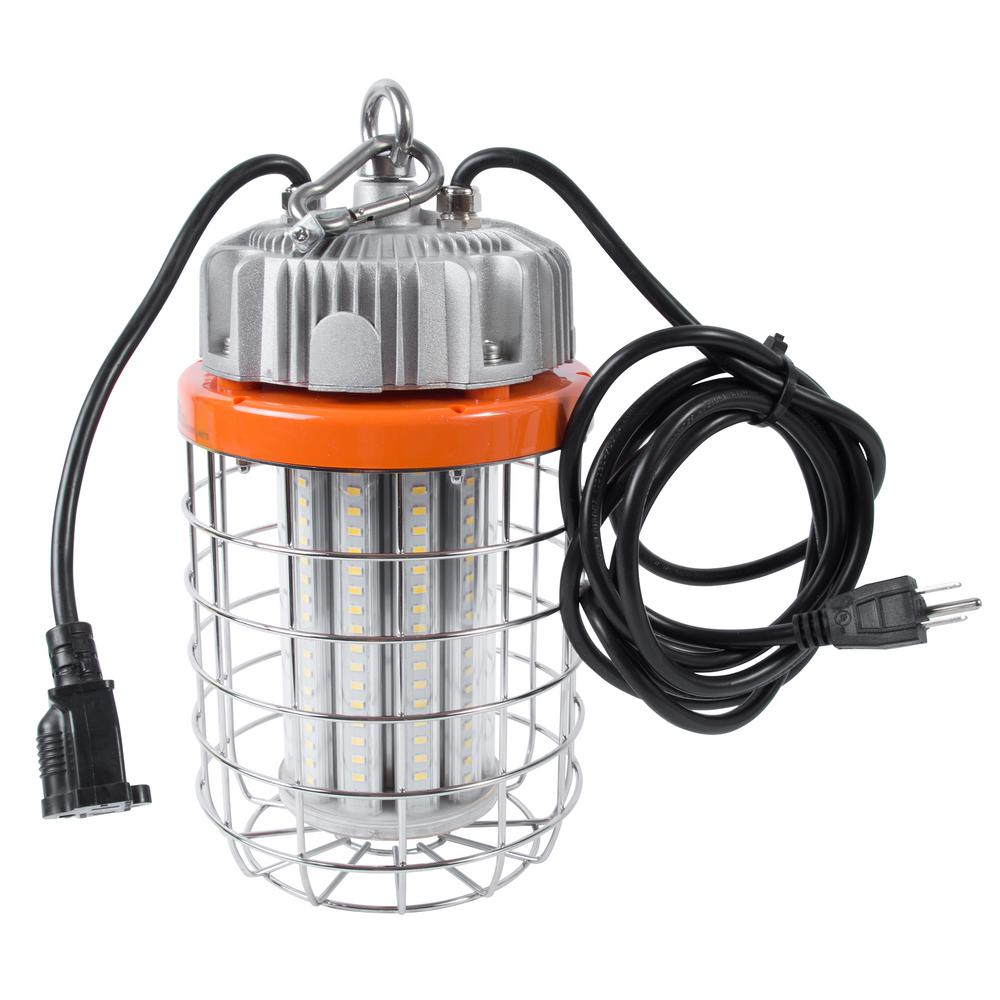100-Watt High Bay LED Luminaire Temporary Plug-in Work Light Fixture
