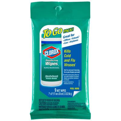 9-Count Fresh Scent To Go Pack Disinfecting Wipes