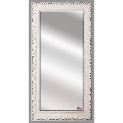 32 in. x 65.5 in. French Victorian White Beveled Full Body Mirror