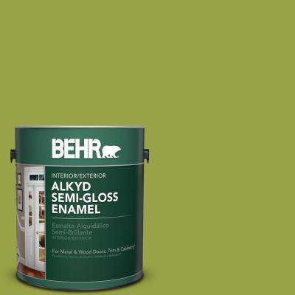 1 gal. #P360-6 Fresh Apple Semi-Gloss Enamel Alkyd Interior/Exterior Paint