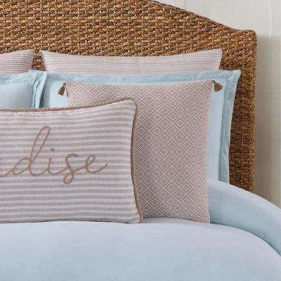 Chambray Coast White and Grey Pillow