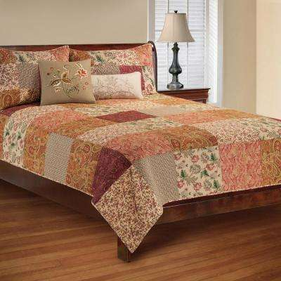 Brown Avianna Twin Quilt Set
