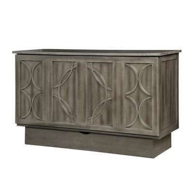 Brussels Charcoal Queen Size Cabinet Bed