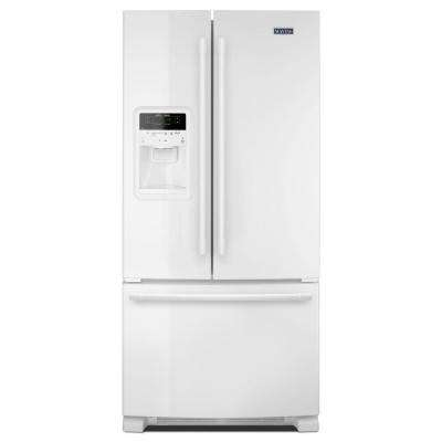 33 in. W 22 cu. ft. French Door Refrigerator in White