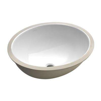 Caxton Vitreous China Undermount Bathroom Sink in White