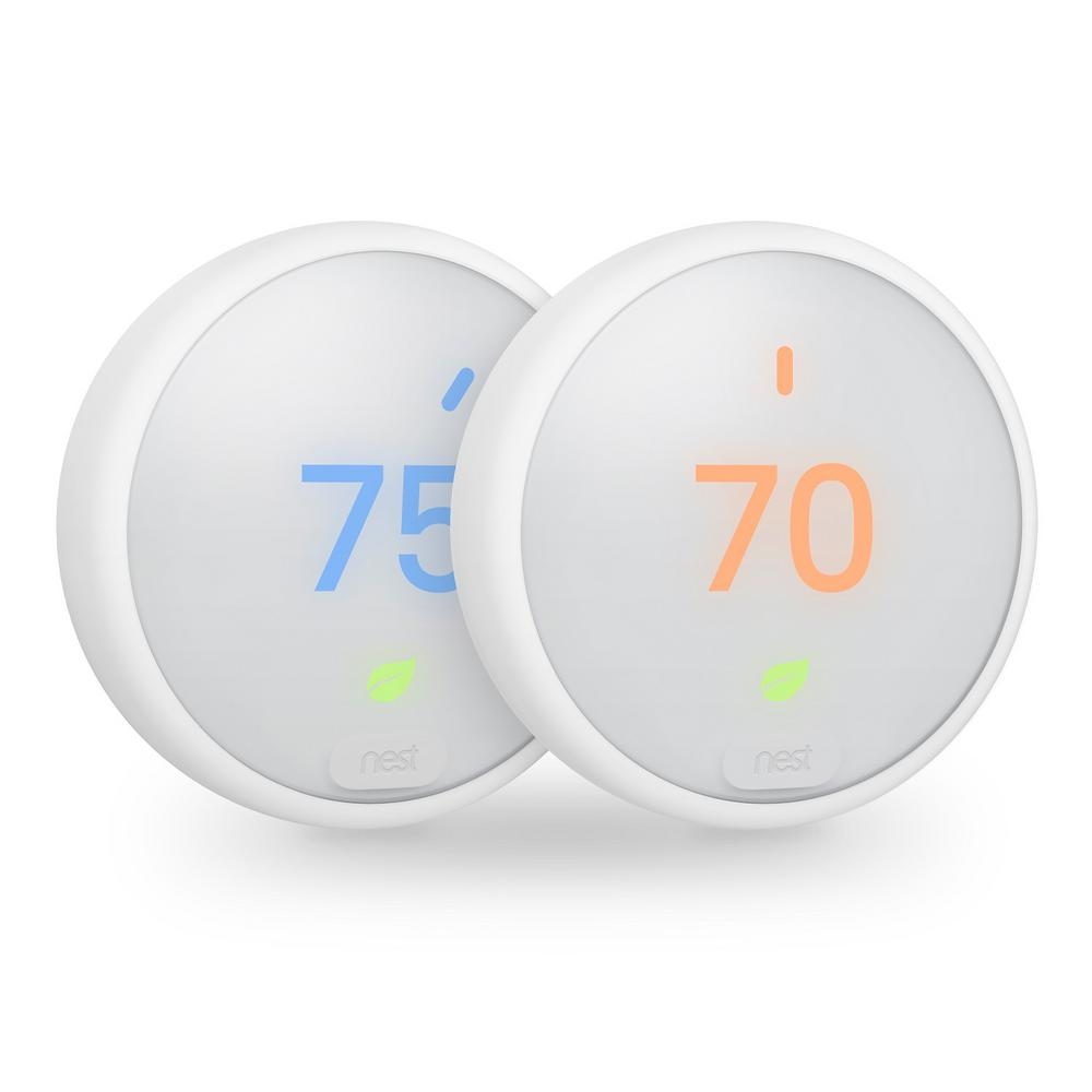 nest thermostat e 2 pack vb00xx17 the home depot. Black Bedroom Furniture Sets. Home Design Ideas