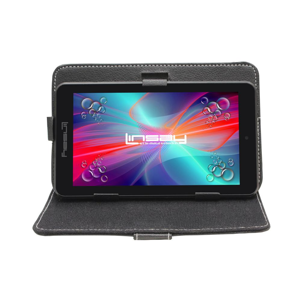LINSAY 7 in. 2GB RAM 16GB Android 9.0 Pie Quad Core Tablet with Black Case was $119.99 now $54.99 (54.0% off)