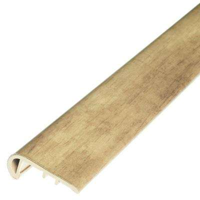 Bone 1/8 in. Thick x 1-3/4 in. Wide x 94 in. Length Vinyl Stair Nose Molding