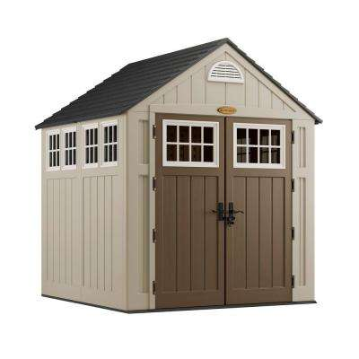 Alpine 7 ft. 2 in. x 7 ft. 6 in. Resin Storage Shed