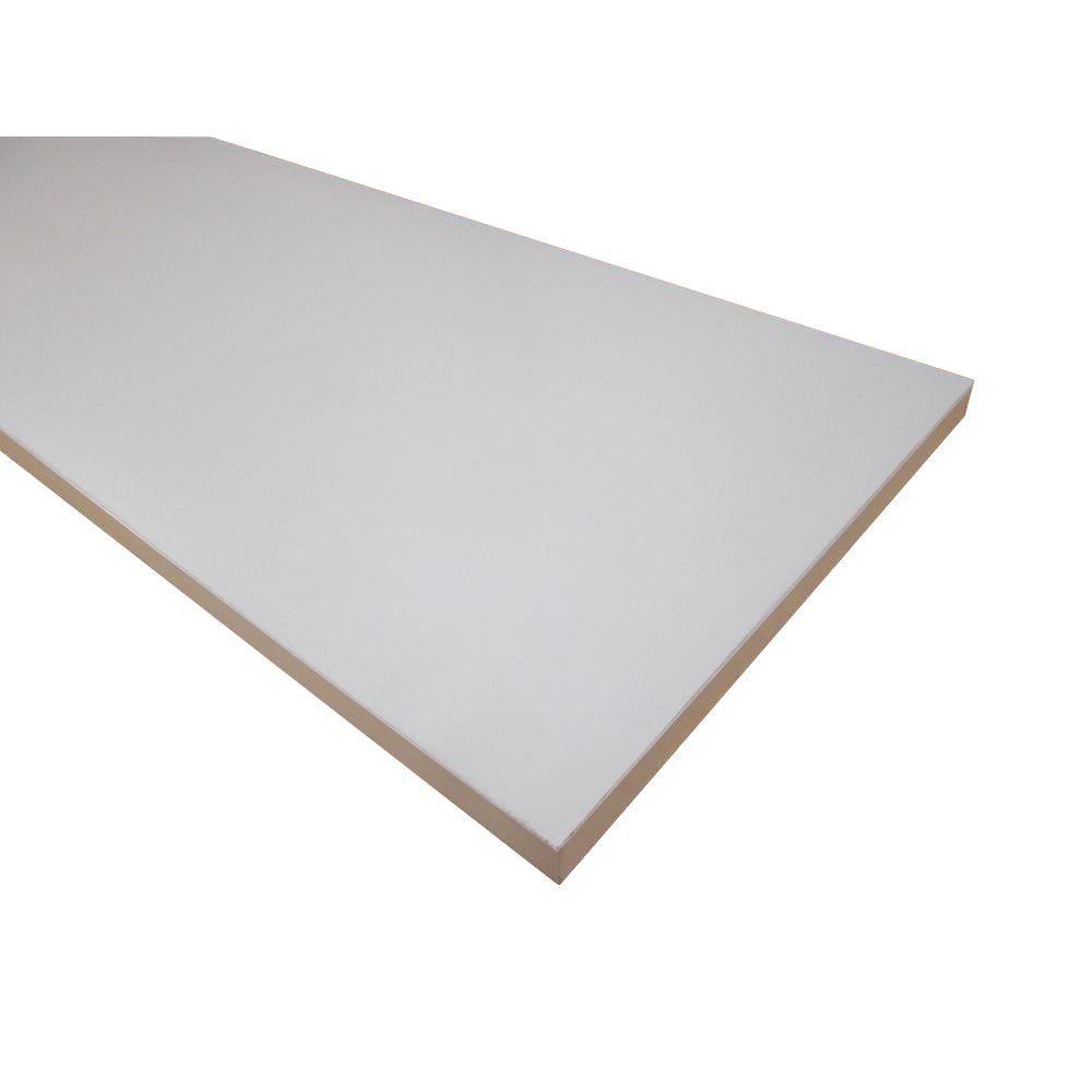 3/4 in. x 11-3/4 in. x 71-3/4 in. White Melamine Shelf