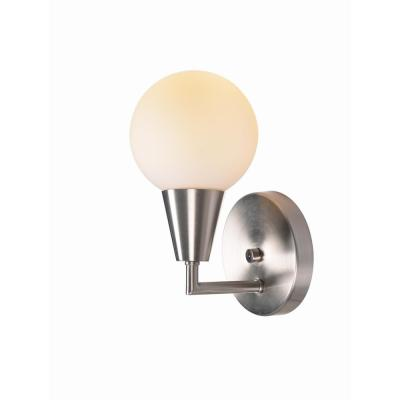 Vaughn 1 Light Brushed Steel Sconce