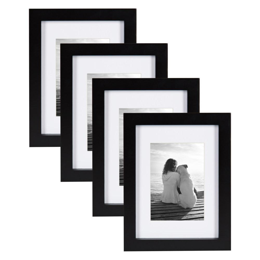 DesignOvation Gallery 5 in. x 7 in. Matted to 3.5 in. x 5 in. Black ...